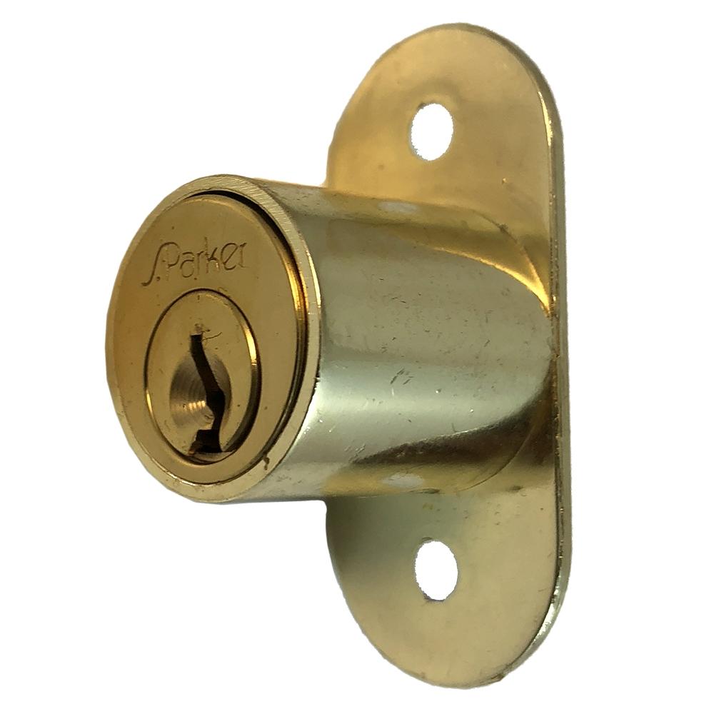 S Parker 2290 Solid Brass Sliding Cabinet Door Push Locks Craftmaster Hardware