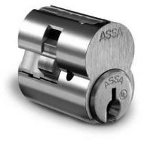 Assa Interchangeable Core, Sub-Assembled, no Sidebar