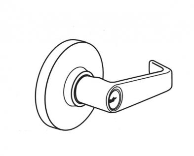 Arrow Lock MLX82SB-10BP-IC Storeroom Lever Lock