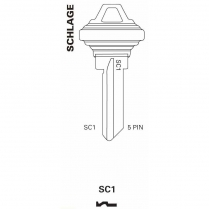 JET Hardware SC1-250 Pack 5 Pin Key Blank AA