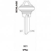 JET Hardware SC1 5 Pin Key Blank B