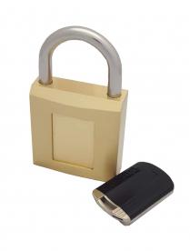 "Capitol M-8000 Brass Body Magnetic Padlock 1-1/2"" Shackle KA"