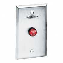 Schlage Electronics Red Exit Button