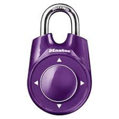 Master lock 1500id Padlock Speed Dial Resettable Combination Directional PURPLE