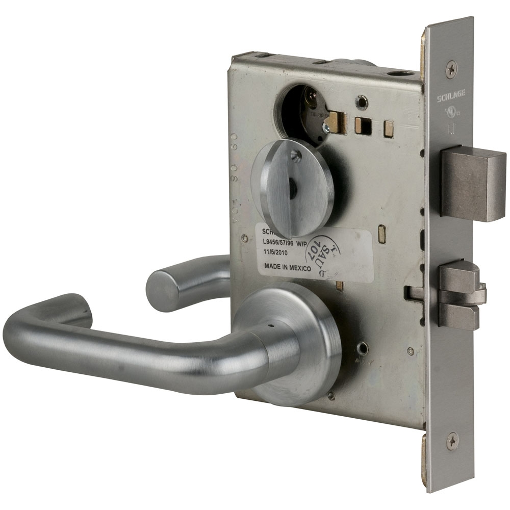 Schlage L9453P-03A-626 Entrance Mortise Lock with Deadbolt   Craftmaster  Hardware