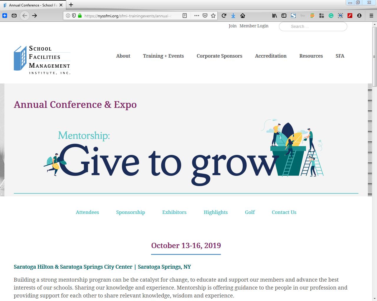 School Facility Management Conference & Expo 2019 - Saratoga Hilton & Saratoga Springs City Center, 534 Broadway, Saratoga Springs, NY 12866