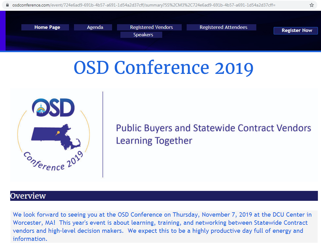 OSD Conference 2019 Fall – Attendee Registration!!!