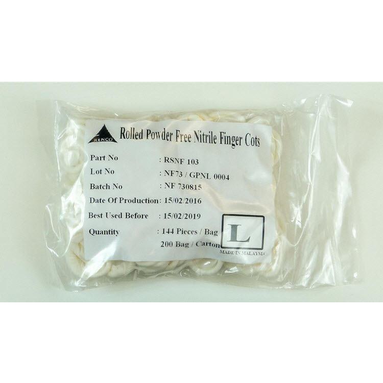 COTS NITRILE CLEAN ANTI-STATIC 1GR BAG 100/CS SZ M