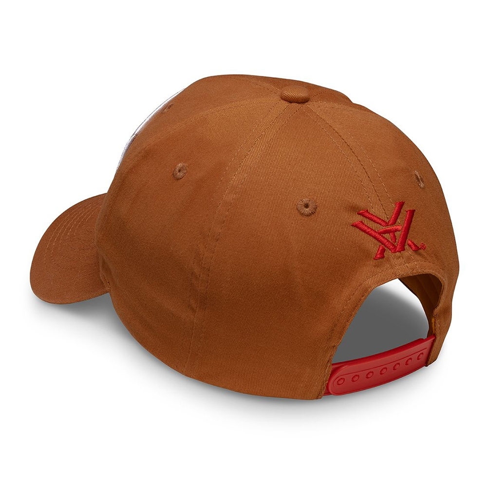 Vortx Cap: Brown with Red Logo Patch