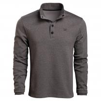 Vortex Men's LS Shirt: Black Heather Stone Circle Zip
