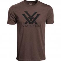 Vortex Men's T-Shirt:  Brown Heather Core Logo