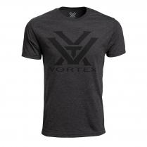 Vortex Men's T-Shirt: Charcoal Heather Core Logo