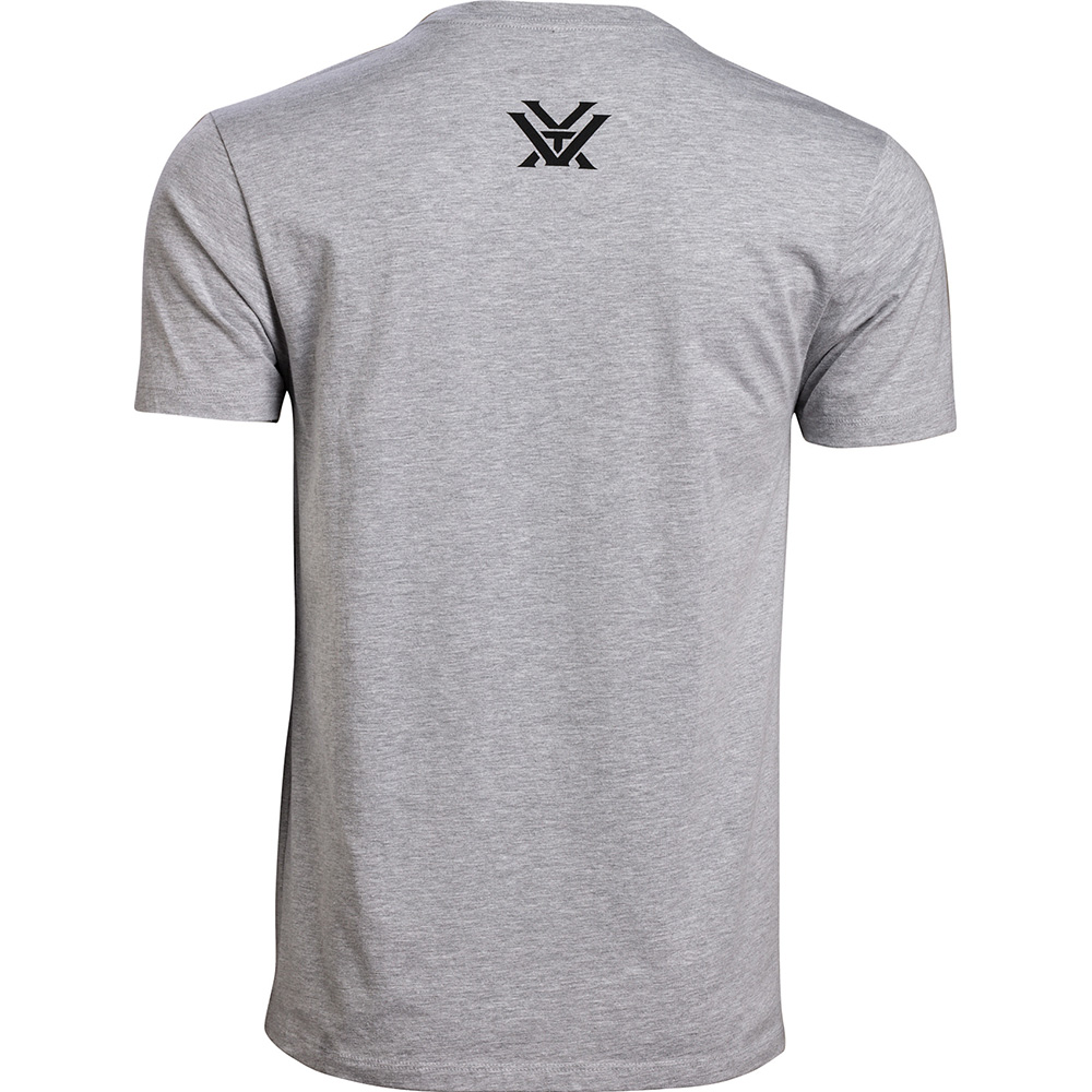Vortex Men's T-Shirt: Grey Heather Core Logo