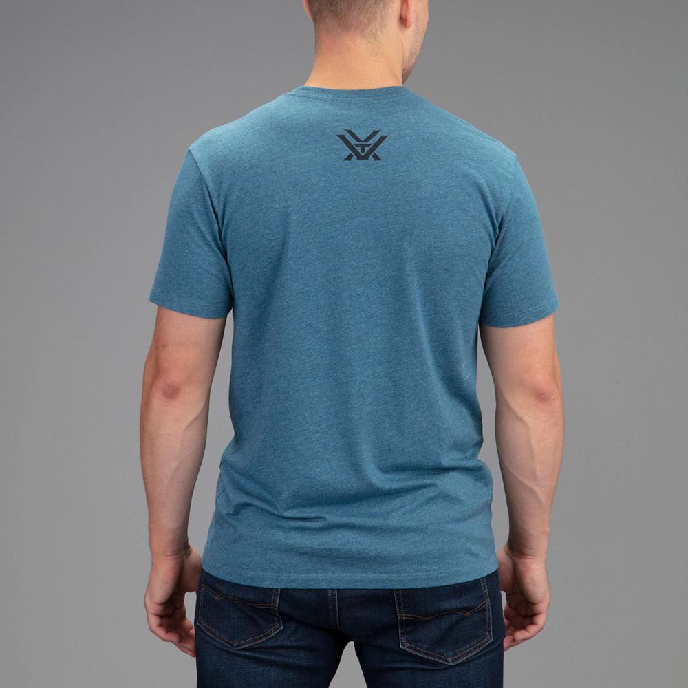 Vortex Men's T-Shirt: Steel Blue Heather Core Logo