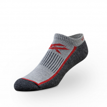 Vortex Men's Socks - Red Black No Show