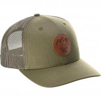 Vortex Cap: Loden Three Peaks Leather Patch