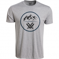 Vortex Men's T-Shirt: Grey Heather 3 Peaks