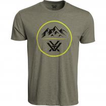 Vortex Men's T-Shirt: Military Heather 3 Peaks