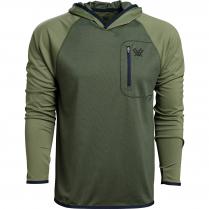 Vortex Men's Hooded Weekend Rucker: Rifle Green