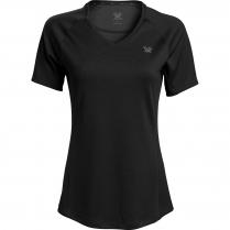 Vortex Women's Short Sleeve Rucker: Black