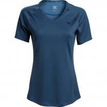 Vortex Women's Short Sleeve Rucker: Dark Blue