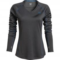 Vortex Women's Long Sleeve Rucker: Charcoal