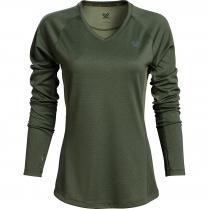 Vortex Women's Long Sleeve Rucker: Green