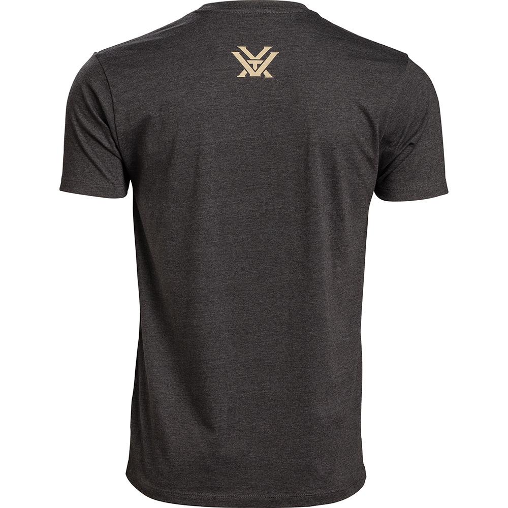 Vortex Men's T-Shirt: Charcoal Heather Full Tine