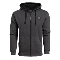 Vortex Full Zip Hoodie - Black Heather