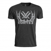 Vortex T-Shirt: Charcoal Heather Full Tine Job