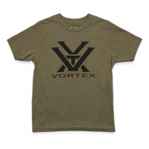 Vortex Kid's T-Shirt - Drab Olive with Black Logo