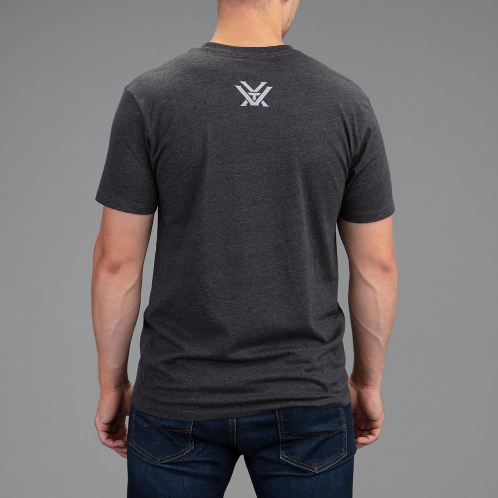 Vortex Men's T-Shirt: Charcoal Heather Shield