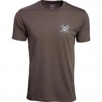 Vortex Men's T-Shirt: Brown Heather Head-On Muley