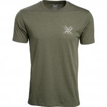 Vortex Men's T-Shirt: Military Heather Head-On Muley