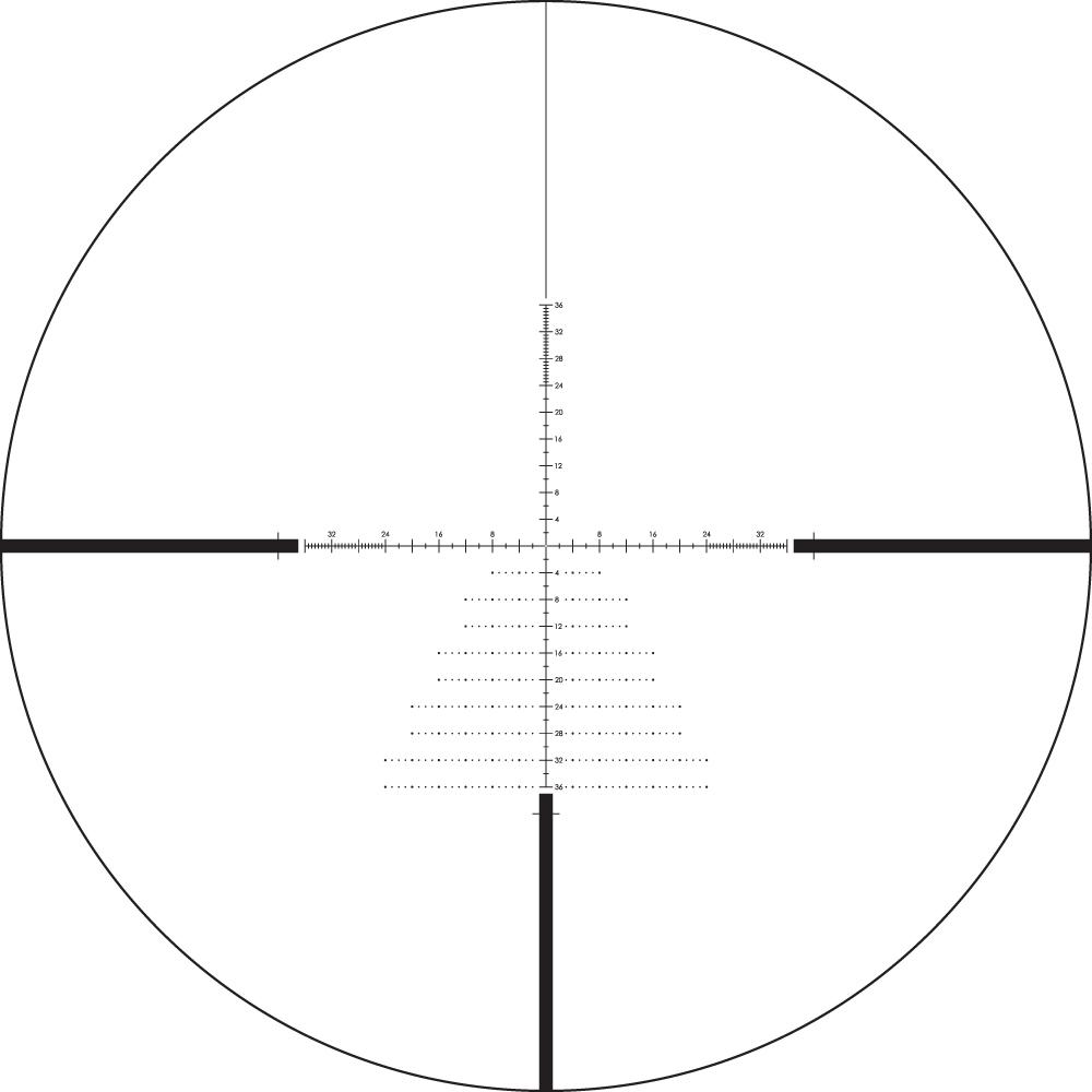 Lunette de tir Diamondback Tactique 6-24x50 PPF avec réticule EBR-2C MOA de Vortex