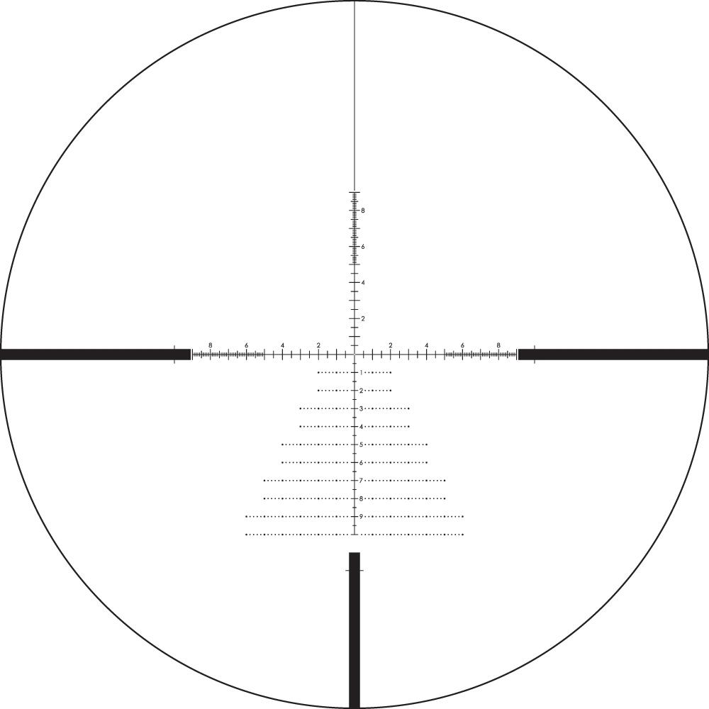 Lunette de tir Diamondback Tactique 6-24x50 PPF avec réticule  EBR-2C mrad de Vortex