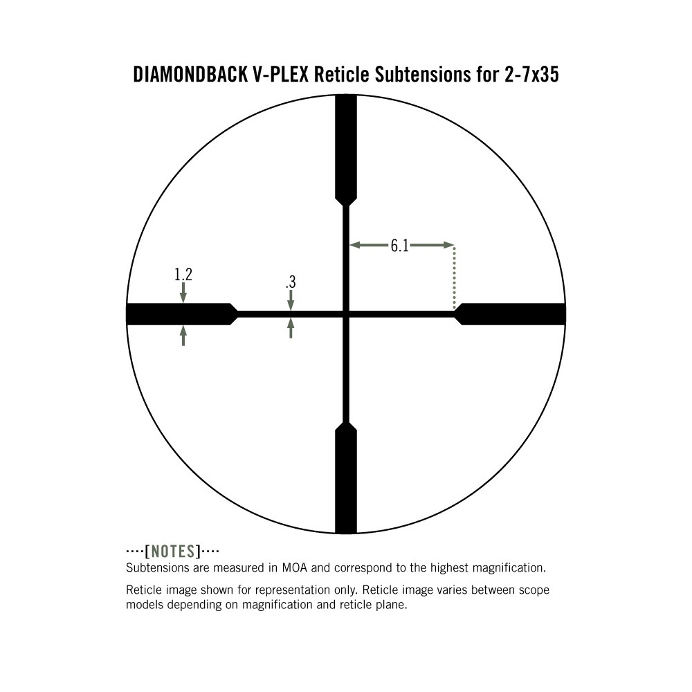 Vortex Diamondback 2-7x35 Rimfire Riflescope V-Plex