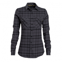 Vortex Women's Button Up Shirt: Black Flannel