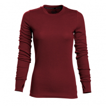 Vortex Women's Long Sleeve Shirt: Maroon Performance