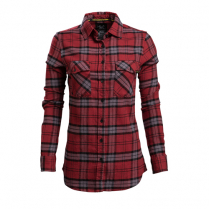 Vortex Women's Button Up Shirt: Red Flannel