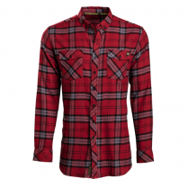 Vortex Men's Button Down Shirt: Red Flannel