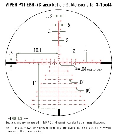 Vortex PST Gen II 3-15x44 FFP EBR-7C mrad