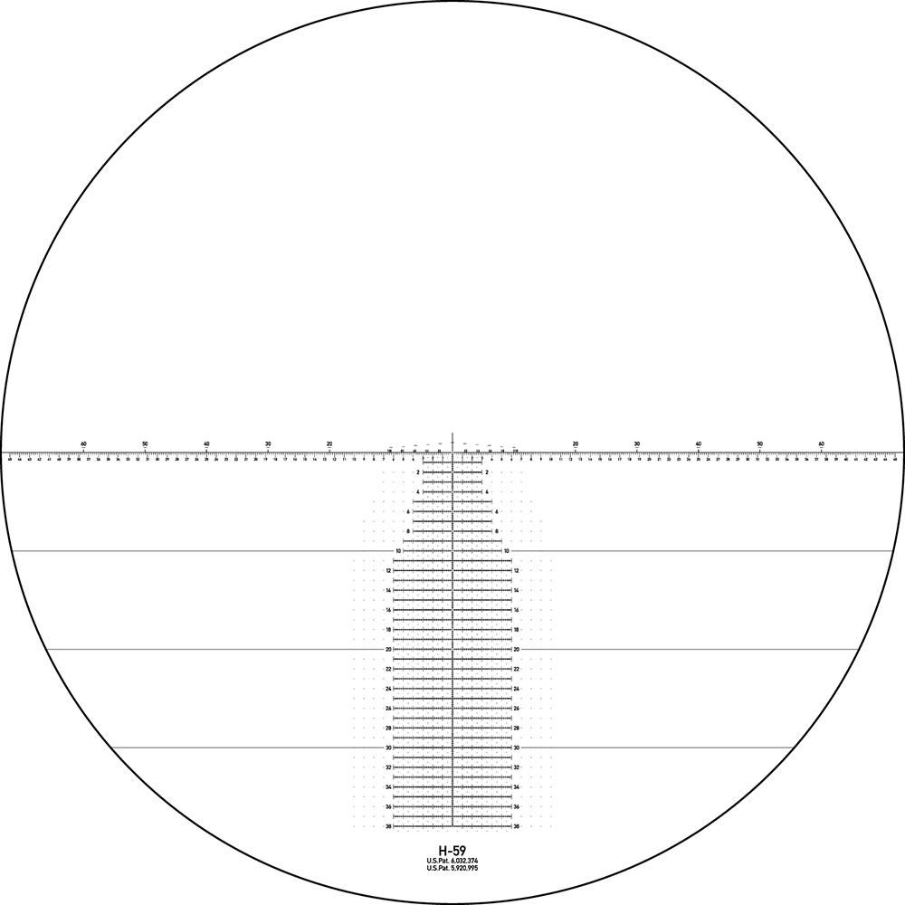 Lunette de tir Razor HD Gen II 4.5-27x56 PPF avec réticule Horus H59 mrad