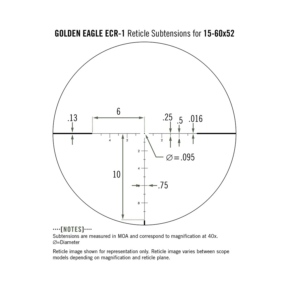 Vortex Golden Eagle 15-60x52 SFP ECR-1 MOA Reticle