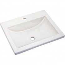 American Standard Studio Drop-In Lav 1-Hole Sink#0643001.020