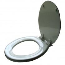 Church RF Wood White Toilet Seat #540EC