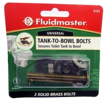 Fluidmaster Solid Brass Tank-Bowl Bolts Set #6101