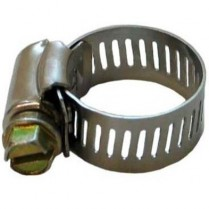 """#8 Stainless Steel Hose Clamp 1/2"""" #2208008"""