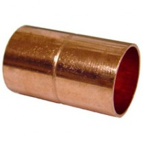 "1 1/4"" Copper Coupling w/Stop"