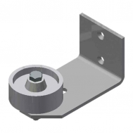 Nylon Stay Roller, Wall Mount (1-1/2to 2-3/4)-SS #2b (58p2)